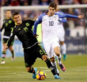 Pulisic was a shining star in Friday's match, seemingly always trying to get forward. Photo by Jay LaPrete, AP
