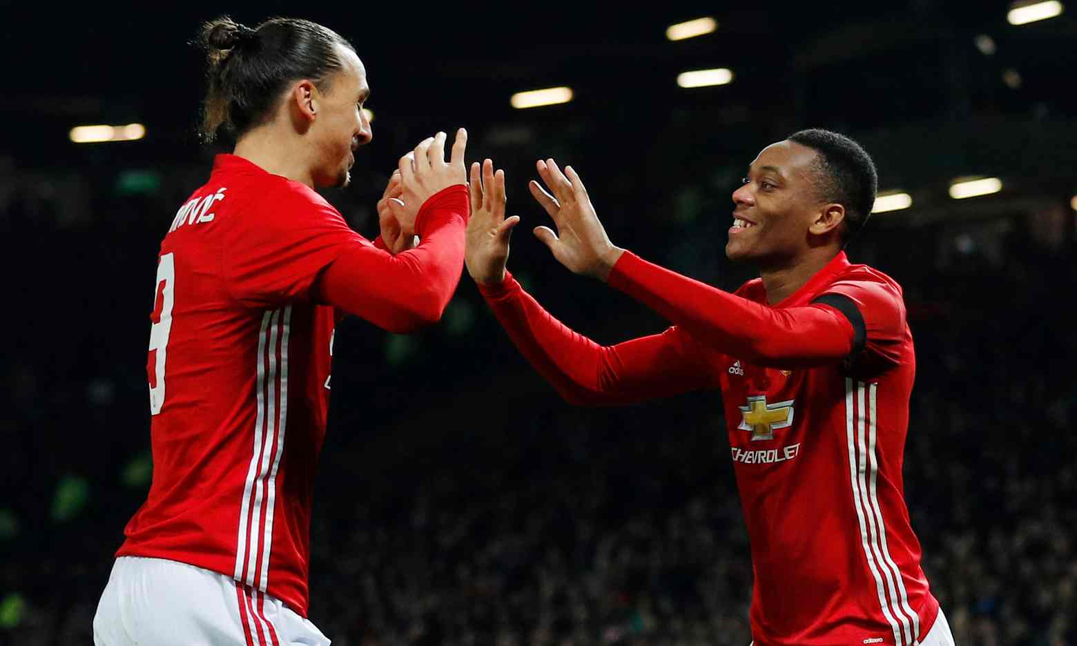 United stars of all sorts shined in their 4-1 thumping of West Ham in the EFL Cup Quarter-Final on Wednesday. Photograph by Phil Noble, Reuters.